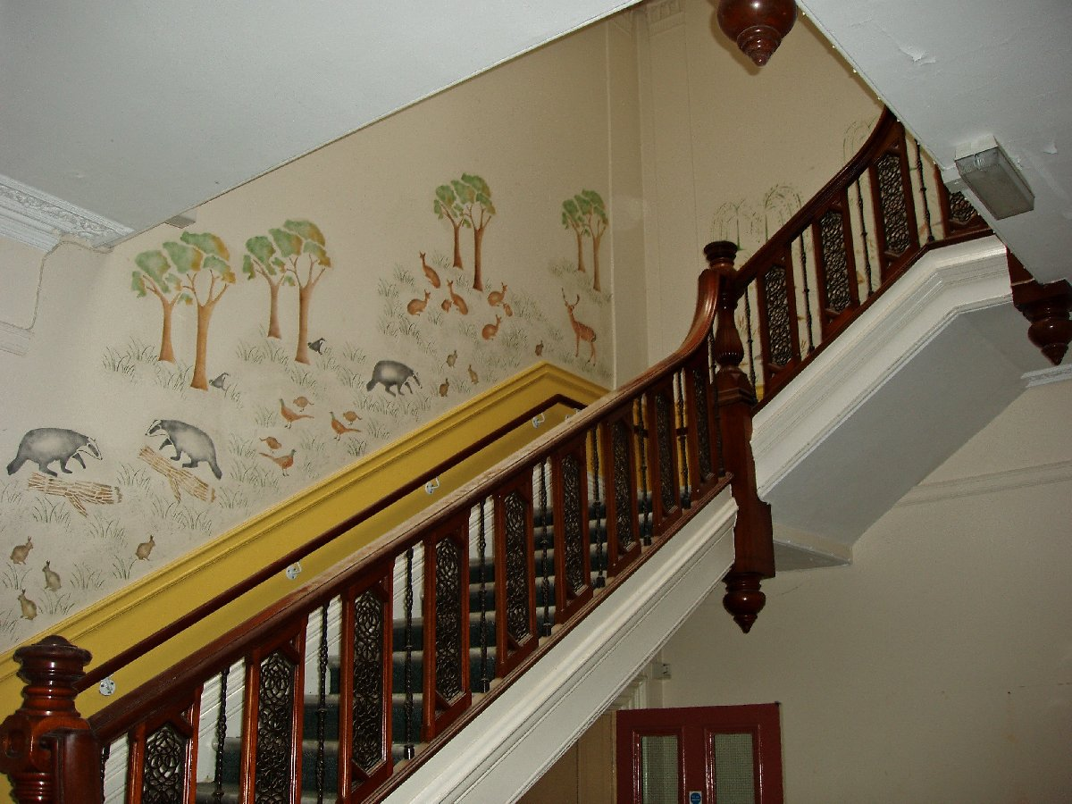 Decorated stairs of pre school interior home design for Pre built stairs interior